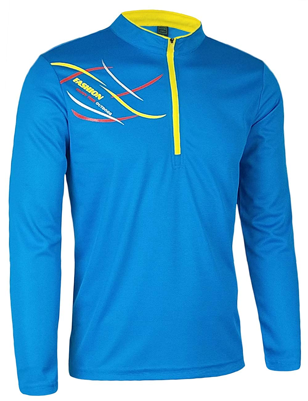 ZOXO Mens Performance Outdoor UV Sun Protection Long Sleeve T Shirts Quick Dry Sports Tee