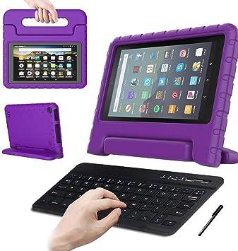 Funda para tablet Amaozn Fire HD 8 de 8 pulgadas con teclado ...