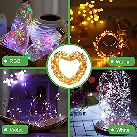 2PACK Fairy String Lights USB Powered with Mode Controller Copper Wire Lights for Christmas Decorative Waterproof 100 LEDs 33ft 5V//1A,2W Starry String Lights for Party B2ocled RGB Wedding AY2A-5V-ST-USB-RGB-2P