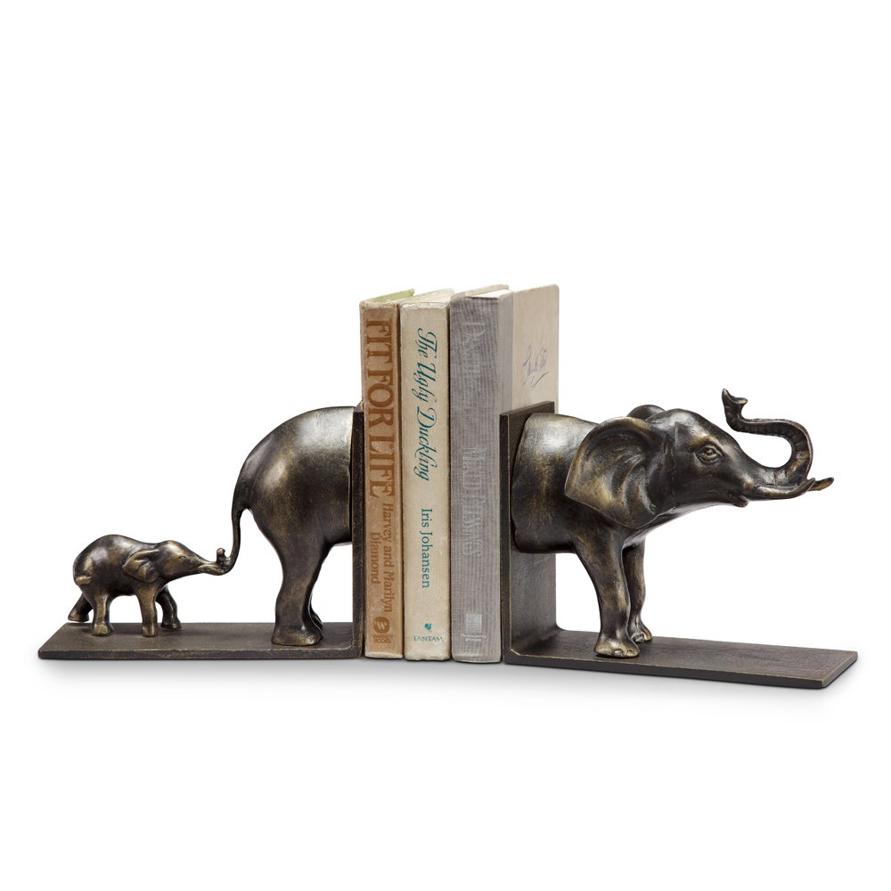 Spi Home Elephant And Baby Bookends by SPI Home- San Pacific Intl