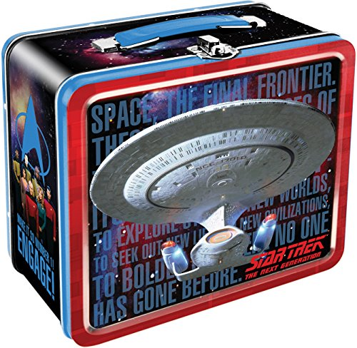 Aquarius Star Trek Next Generation Enterprise Large Tin Fun Box ()
