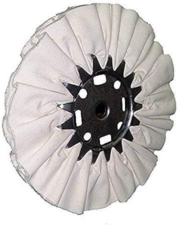 Divine hermanos 30000400 16 PLY Cutmaster algodón Buff, 25,4 cm de diámetro, 3 pulgadas Centro, color blanco: Amazon.es: Bricolaje y herramientas