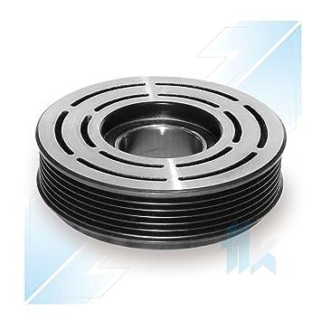 climática Compresor Polea (apto para Peugeot 206, 307 sanden 6 V12 6pk (PV6
