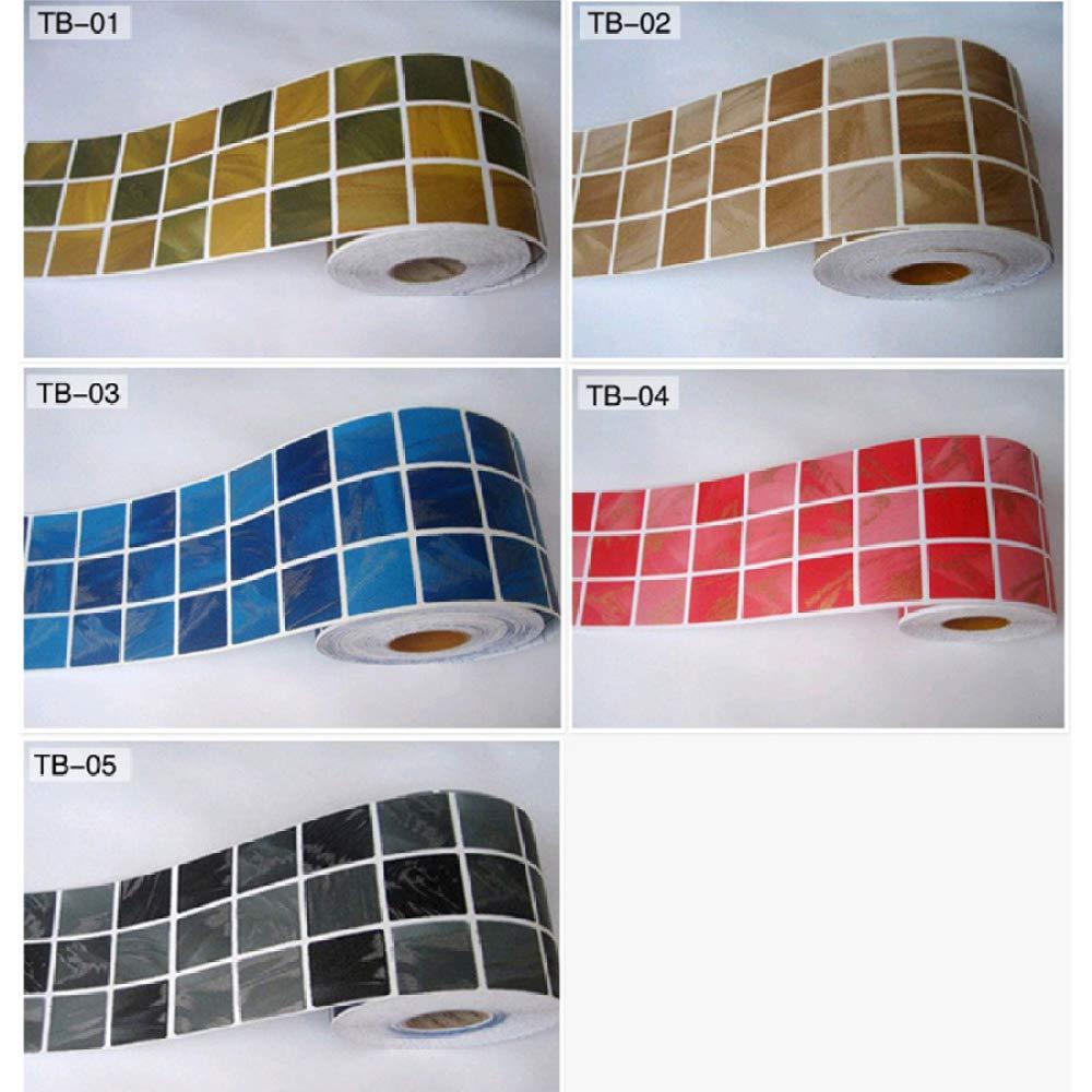 LZYMLG Mosaico cl/ásico Dtickers Vinilo Impermeable Cintura Autoadhesivo Papel pintado para cocina Ba/ño Azulejos Pvc Pared Etiqueta Fronteras mi