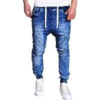 ELECTRI Mode Jeans Lavés pour Homme,Hommes Slim Dechiré Jeans Biker Loisirs Personnels Sport Voyage Tout Droit Pantalons