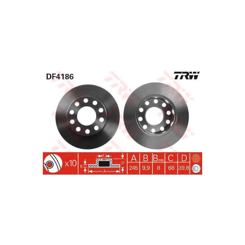 TRW Automotive AfterMarket DF4186 Bremsscheibe Paar