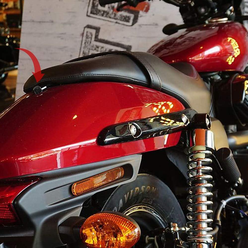 Evermotor 2 Pieces 7075-T6 Aviation Aluminum SeatScrew Sit Bolt 1//4-20 Thread for Harley Davidson