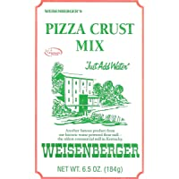 Weisenberger Pizza Crust Mix, 6.5-Ounce - Premade Pizza Dough Flour for Homemade Pizza, Breadsticks, Flatbread, or Calzones - 3 pack