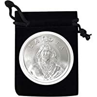 1 - Lakota Nation Silver Coin in Air Tite and Black Velvet Bag 1 Troy Ounce .999 Fine Silver AOCS Approved…