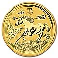 2014 AU Australia 1 kilo Gold Lunar Horse BU (SII) Gold Brilliant Uncirculated
