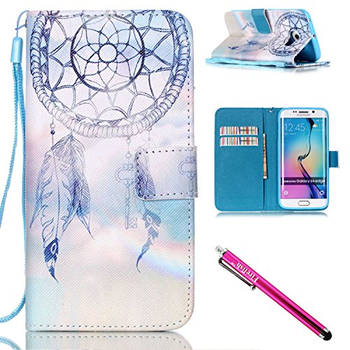 [Galaxy S6 edge Case, Firefish Kickstand Card Slots Cash Holder Dual Layer Impact Resistant Case Cover with Wrist Strap Magnetic Snap Closure for Samsung Galaxy S6] (1980s Movie Character Costumes)