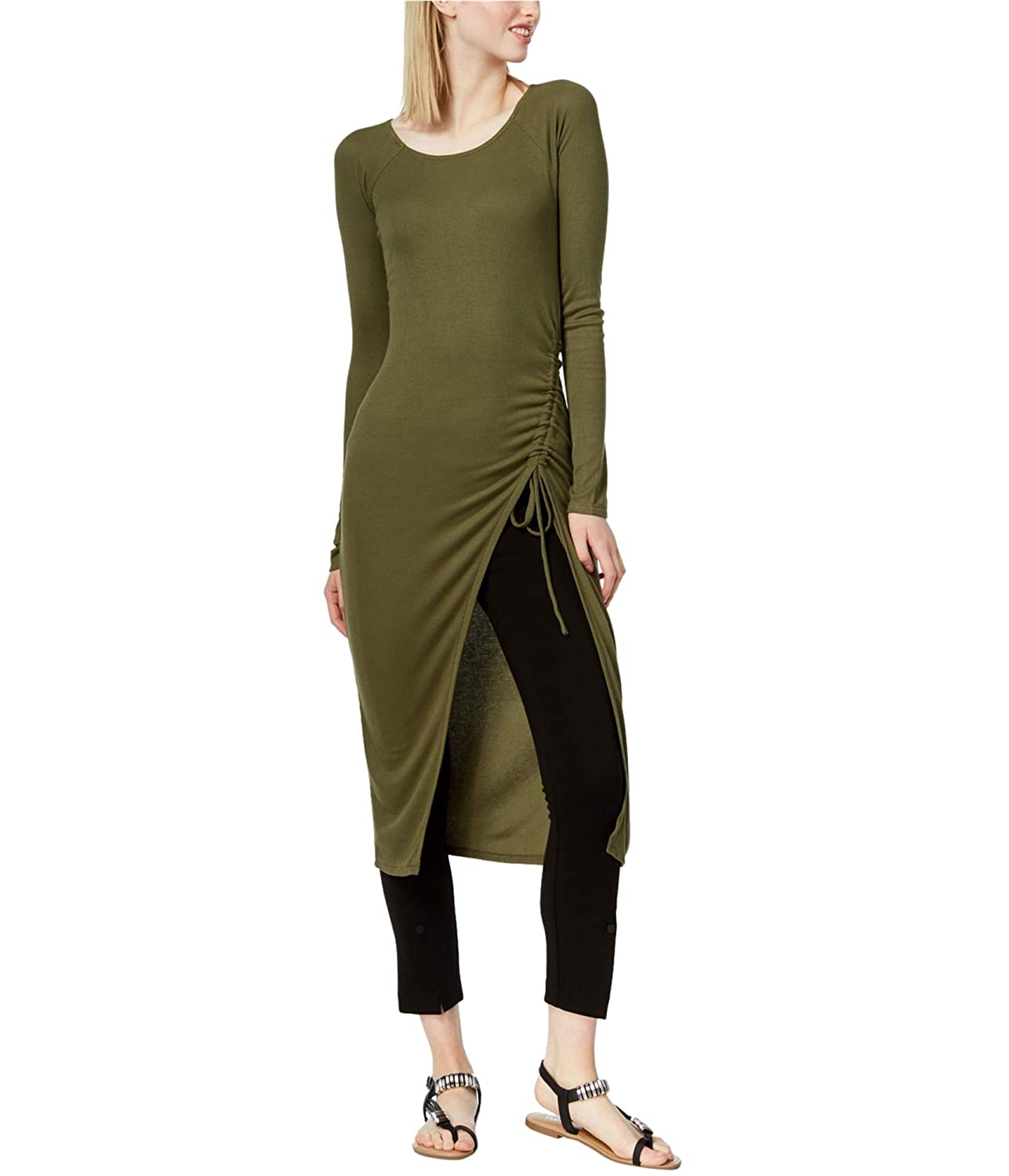 Bar III Womens Ruched Tunic Blouse