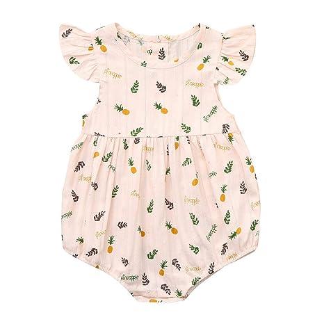 Baby Onesies Rainbow Pineapple 100/% Cotton Baby Jumpsuit Stylish Short Sleeve Bodysuit