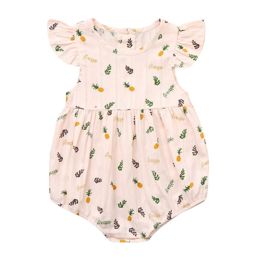 55c608357553 Amazon.com: LiLiMeng Summer Baby Boys Girls Pineapple Print Romper Bodysuit  Jumpsuit Clothes: Clothing