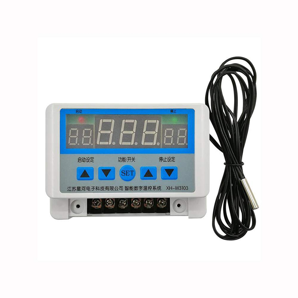 AC 220V DC 12V 24V Termostato Digital 30A Term/ómetro Interruptor de temperatura para pared Max 6600W