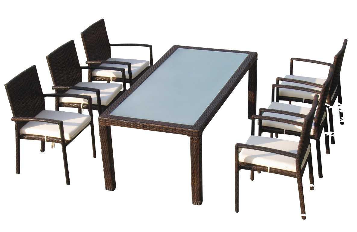Baidani Gartenmöbel-Sets 10d00003.00002 Designer Rattan Essgrupp ...