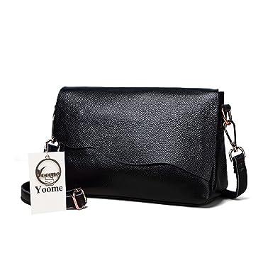 9e25e543b10b Yoome Womens Soft Leather Shoulder Bag Designer Handbag Crossbody Purse  Satchel Cowhide Purses for Ladies -