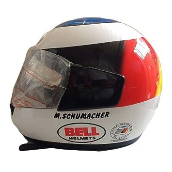 Casco Michael Schumacher de colección, réplica del original Bell Dot, Formula 1, Talla