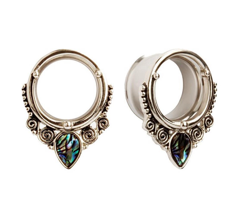 Bigbabybig Ear Plugs 00g Tunnels Gauges Earrings Women Body Piercing Jewelry Stainless Steel Screw