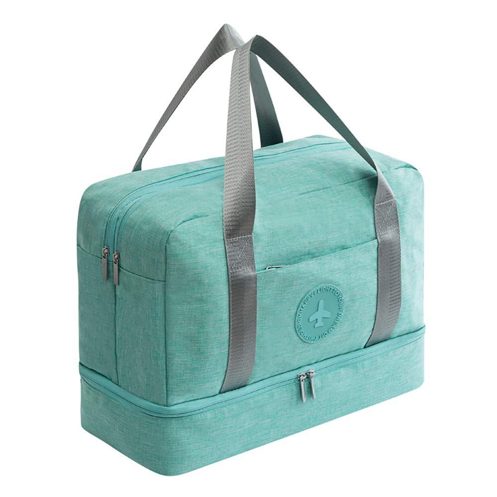 HOKEMP Waterproof Gym Bag with Shoe Compartment Swim Bag Travel Weekender Dry Wet Depart Mesh Tote Bag for Men Women