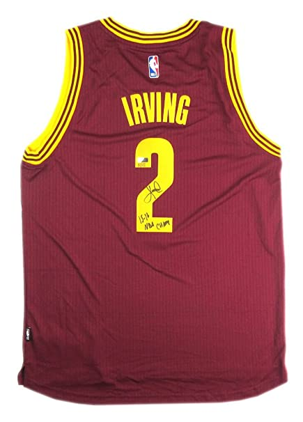 607eb7b1747 Kyrie Irving Autographed/Signed Cleveland Cavaliers Adidas Red Swingman NBA  Jersey - LE - Panini
