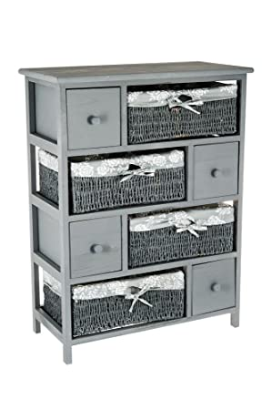 Au0026R Mulberry HQ WICKER DRAWERS STORAGE UNIT BASKET CABINET CHEST MAIZE  BEDSIDE TABLE HOME BEDROOM BATHROOM