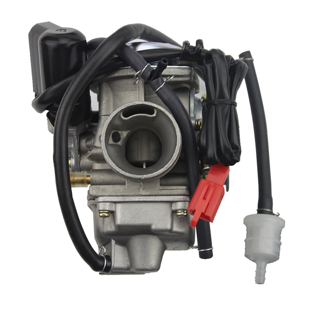 Goofit 24mm Pd24j Carburetor Cold Starters For Gy6 150cc Engine Wiring Harness 152qmi 157qmj Atv Go Kart Moped Motorcycle Scooter Car Motorbike