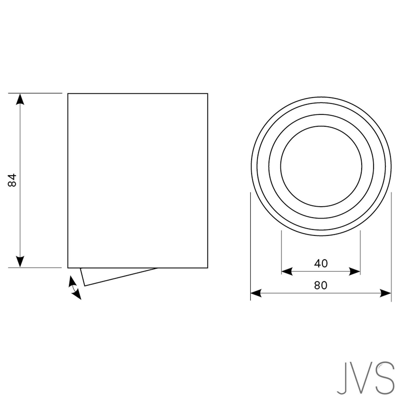 JVS Aufbauleuchte Aufbaustrahler Deckenleuchte Aufputz LED 5W Warm-wei/ß Milano GU10 Fassung 230V Eckig Weiss schwenkbar Deckenleuchte Strahler Deckenlampe Aufbau-lampe Downlight aus Aluminium