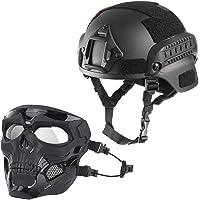 WLXW Casco Táctico Mich 2000 Y Máscara Protectora