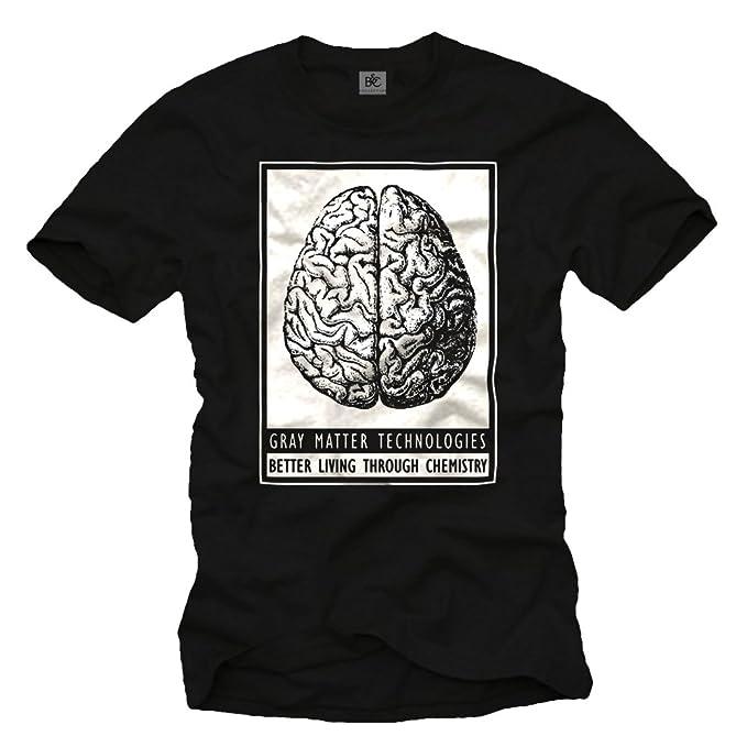 Camiseta Graciosa Negra Hombre - Gray Matter Technologies: Amazon.es: Ropa y accesorios