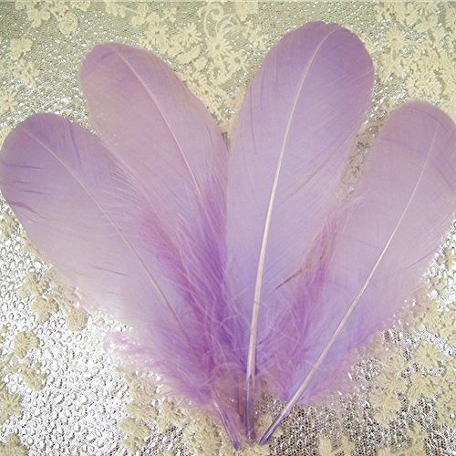 Lilac Silky Crating Feather Beautifully Shaped Loose Feathers Embellishment for Millinery Newborn Photography Prop