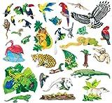 Rain Forest Animals 31 Large Precut Felt Figures For Flannel Boards