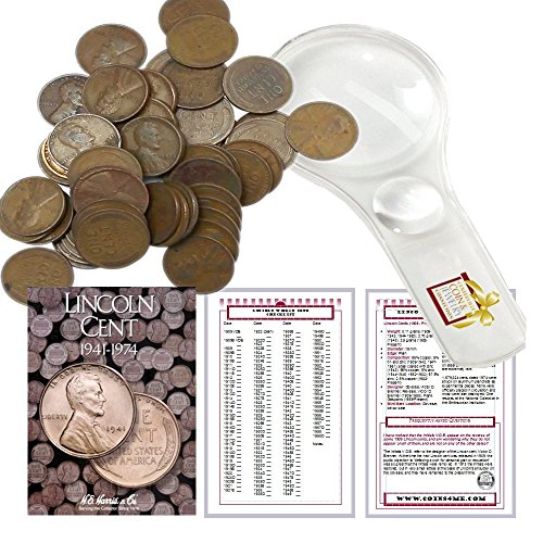 - Lincoln Wheat Penny Starter Collection Kit, Part Two, H.E. Harris [2673] Lincoln Cent Folder Vol. 2, One Roll of Wheat Cents, Magnifier and Checklist, (4 Items) Great Start for Beginner Collectors