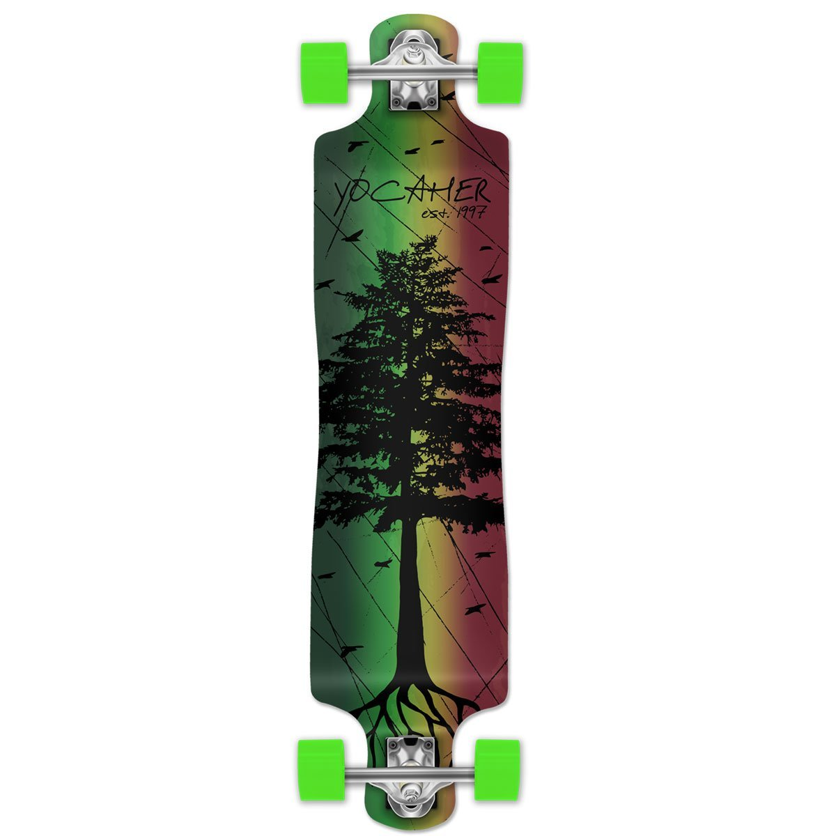 In The Pines Rasta Longboard Complete Skateboard - available in All shapes (Lowrider)