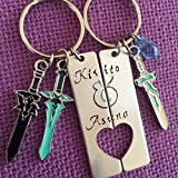 Sword Art Online Jewelry Set - Kirito and Asuna Cosplay Couples Keychain Set