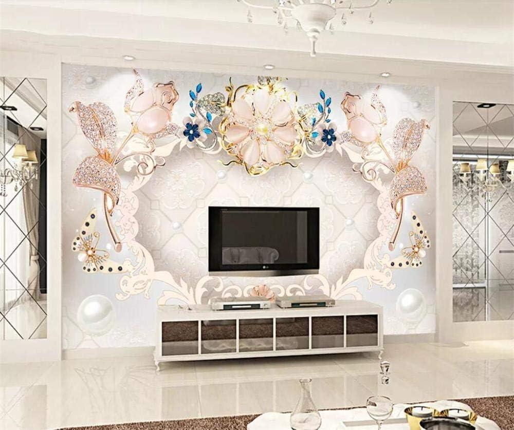 Cyalla Papel Tapiz Personalizado Hd 3D Mural No Tejido De Gama Alta Joyería Piedras Preciosas Decoración De La Pared Interior Pintura Papel Tapiz 3D-350X250Cm