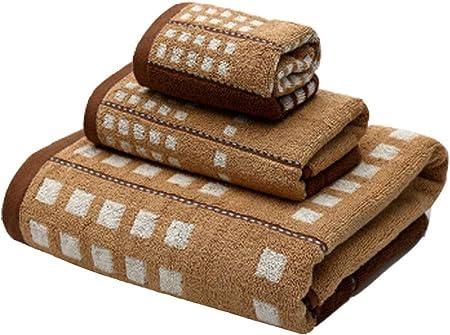 Toalla de algodón de Tres Piezas Toalla a Cuadros (incluida una ...