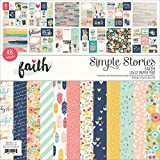 Simple Stories Single-Sided Paper Pad-Faith, 24 Designs/2 Each, 12'' x 12''