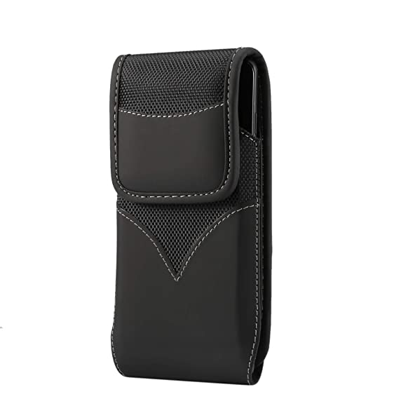 32980121ee78 Amazon.com: Men's Outdoor Black Oxford Nylon Flap Flip Wallet Case+ ...