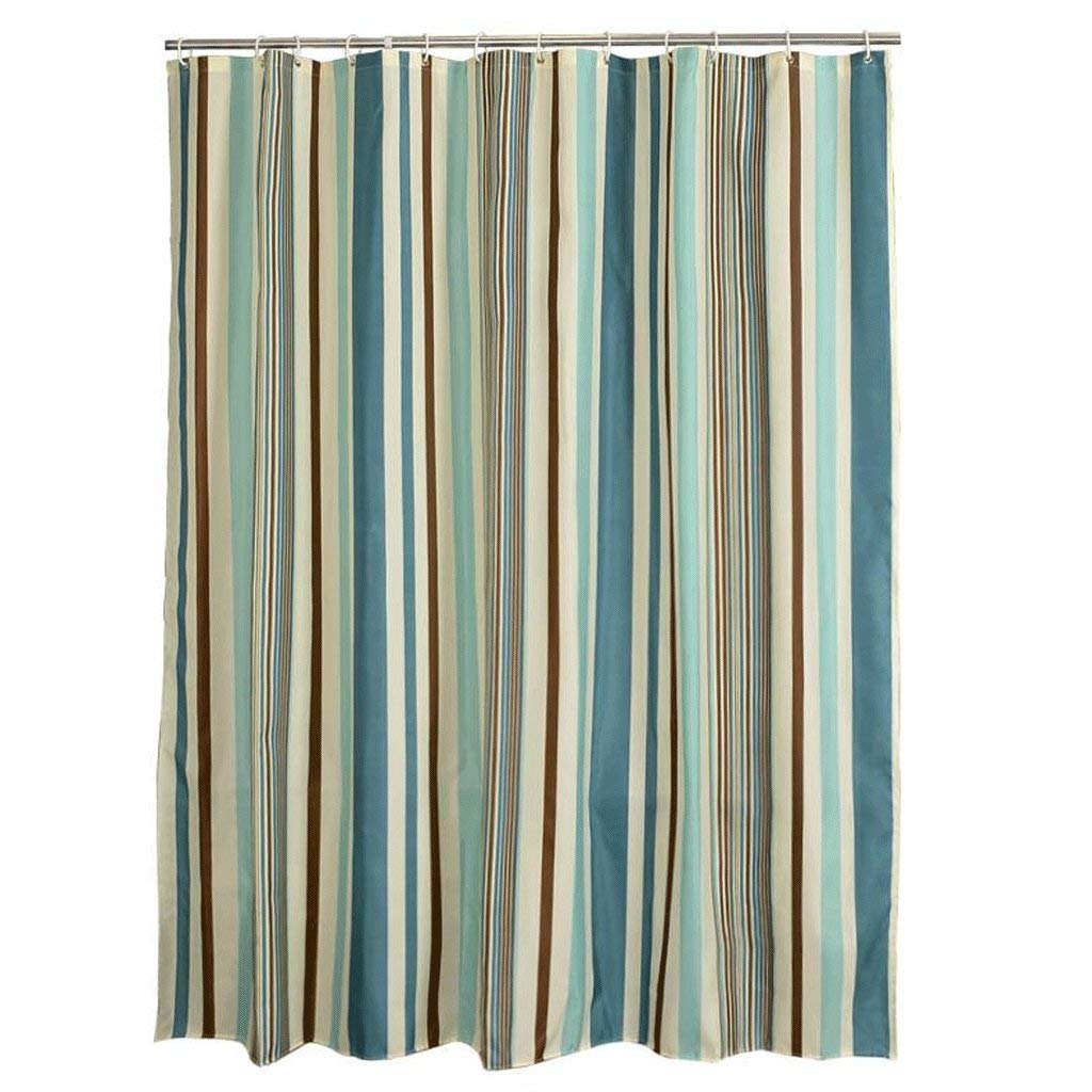 Der Shower Curtains Shower Curtains Stripe Pattern Environmentally Friendly Materials Quick to Dry Waterproof Copper Hanging Hole (Size : 150200cm)