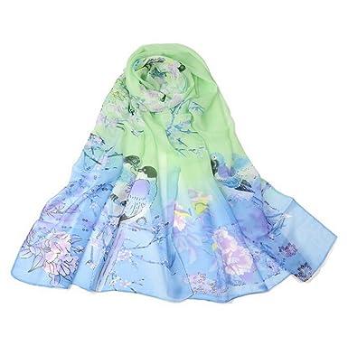 e29c74a9a55f Westeng Femme Foulard Echarpe Foulard Motif de Fleur pour Femme Eté 160    50CM  Amazon.fr  Vêtements et accessoires
