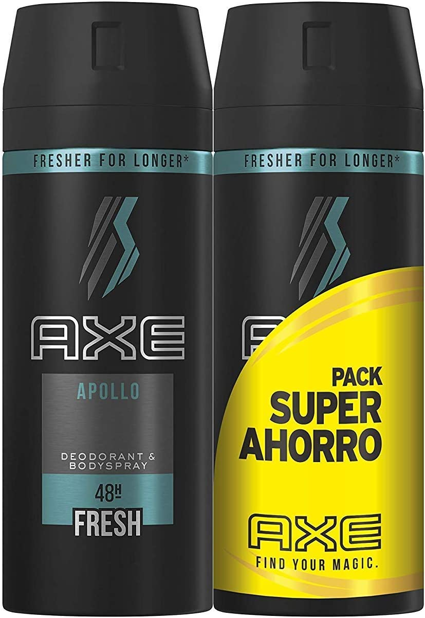 Axe Desodorante Apollo Pack Duplo Ahorro - Pack de 2 x 150 ml