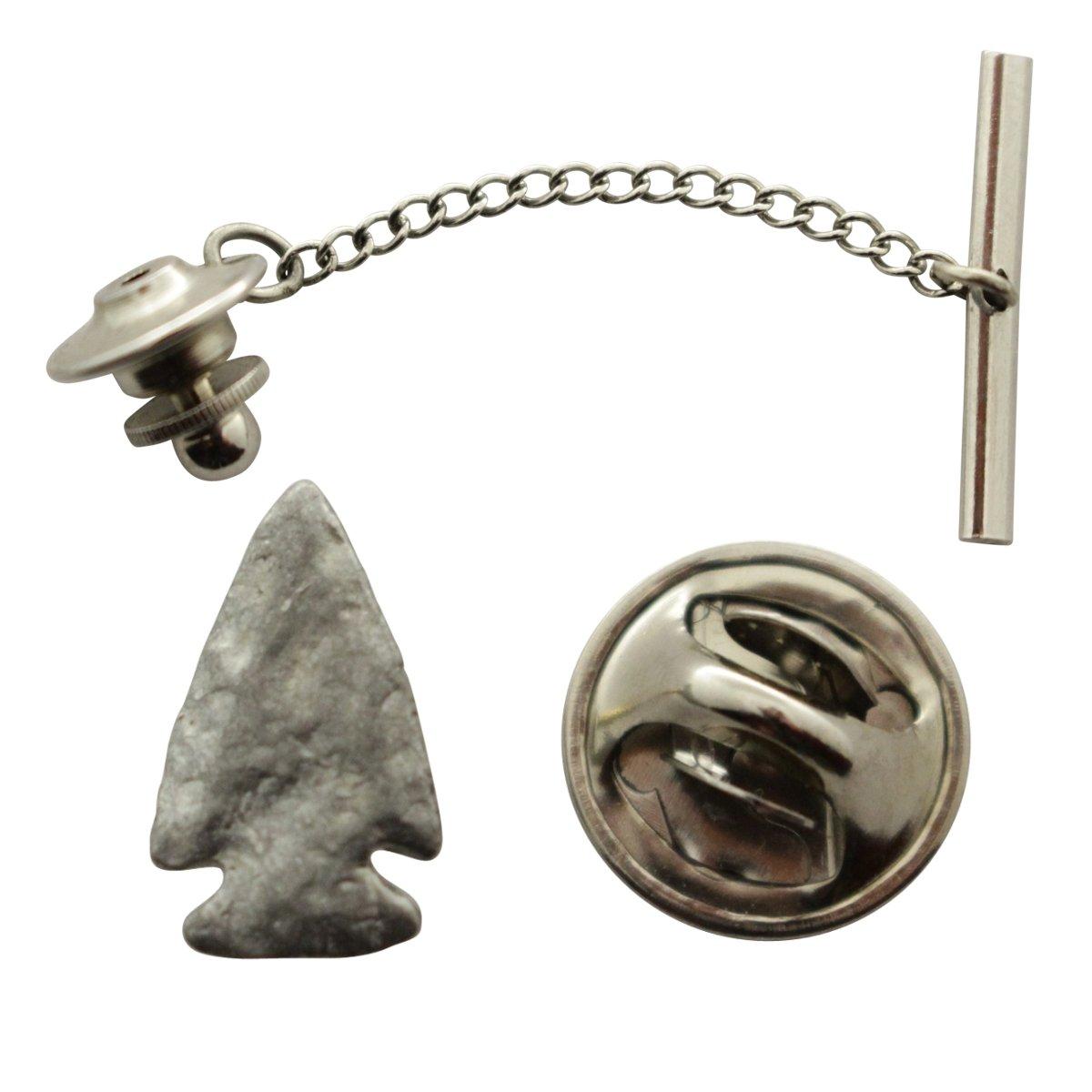 Arrowhead Tie Tack ~ Antiqued Pewter ~ Tie Tack or Pin ~ Sarah's Treats & Treasures