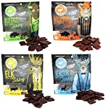 Pearson Ranch Wild Grass Fed Game Variety Pack of 4-2.1oz Bags - Venison, Elk, Buffalo, Wild Boar - Gluten-Free, MSG-Free, Paleo and Keto Friendly
