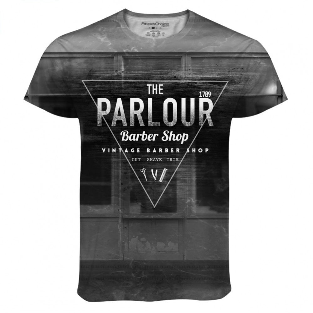 Barber Parlour Connect for Mens Tee by Peoples Choice Apparel