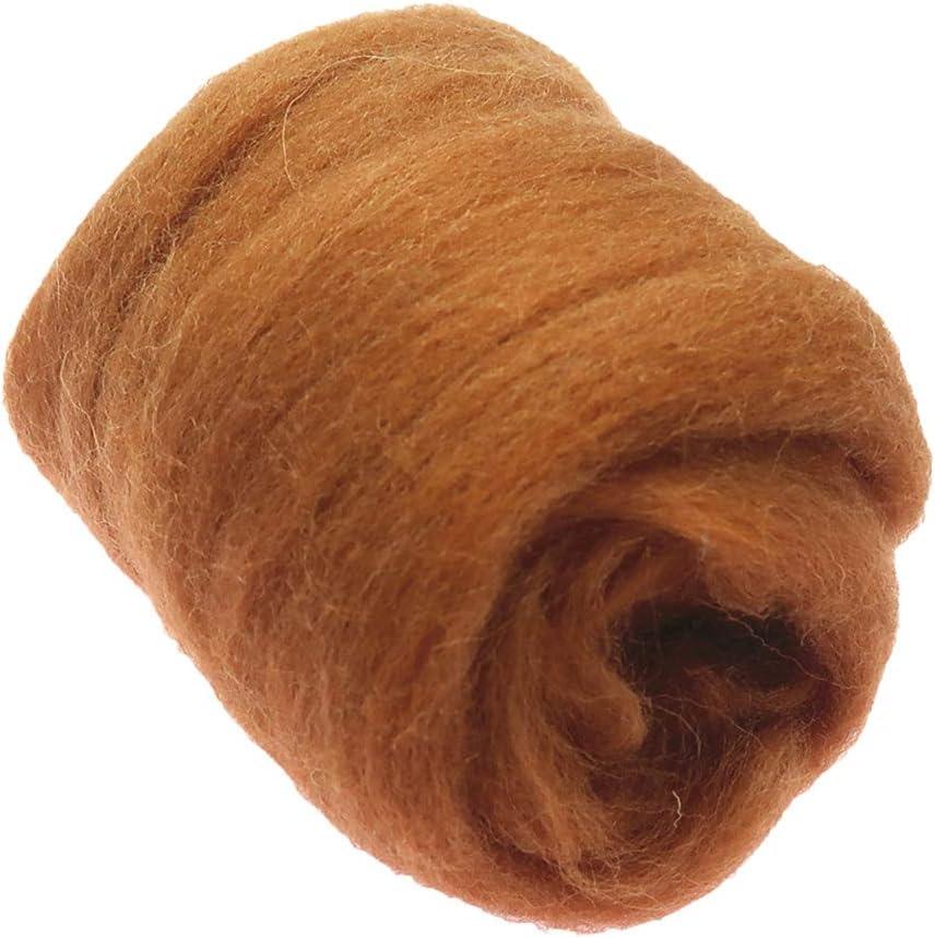 perfk 10g Filzwolle Nassfilzen und Trockenfilzen Braun