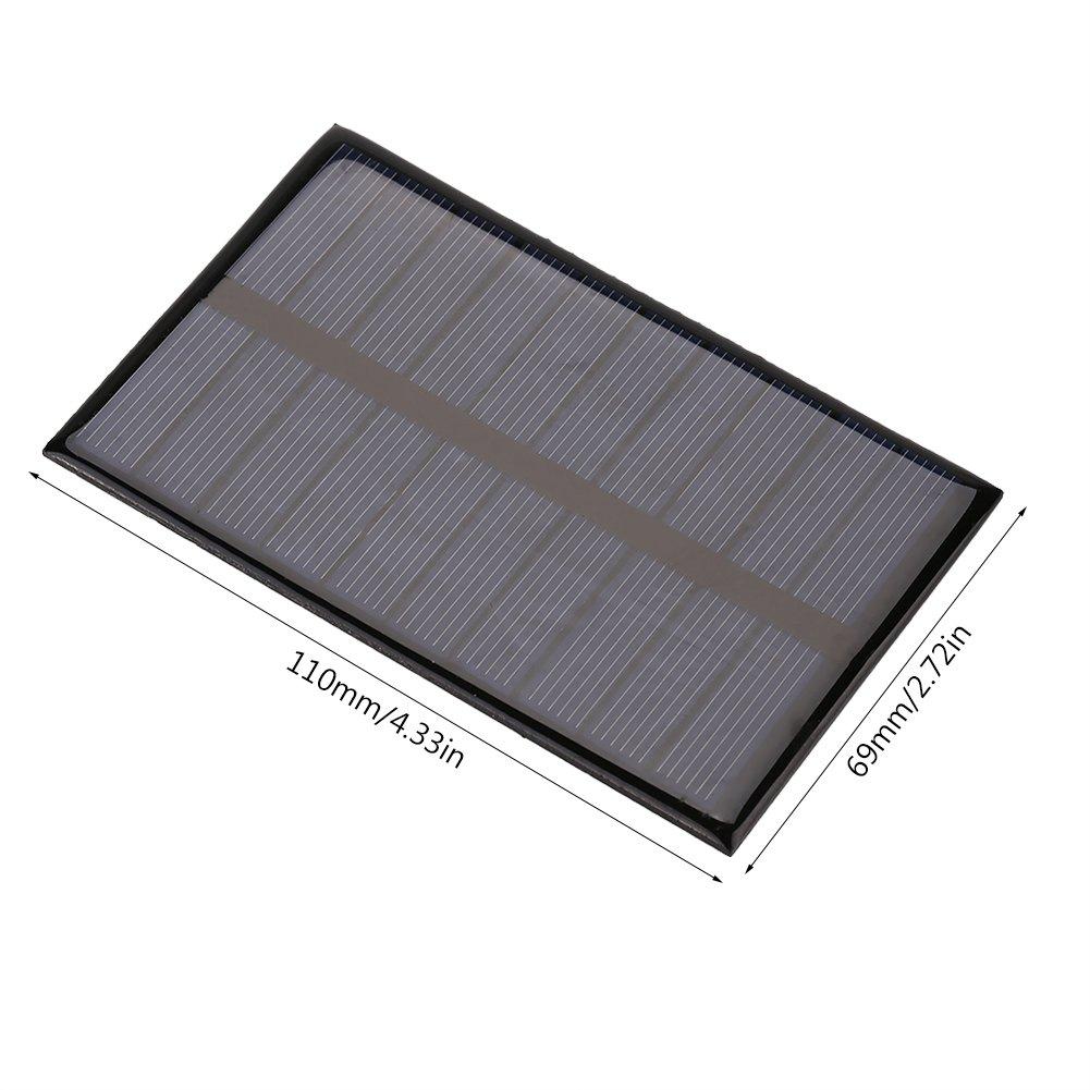 Cafopgrill Modulo Portatile Mini Pannello Solare 1.2W 5V Fai-da-Te per Batteria Caricabatterie per Cellulare Caricabatterie per Cellulare Home