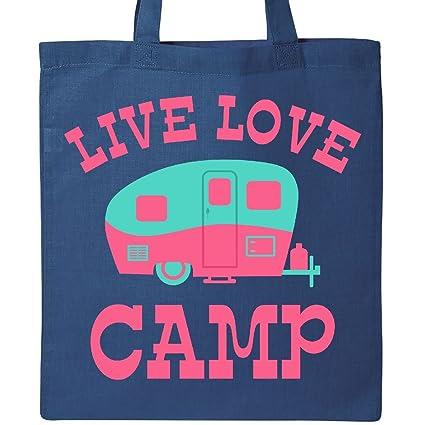 219e56b24efd Amazon.com  Inktastic - Live Love Camp RV Tote Bag Royal Blue 2a494 ...