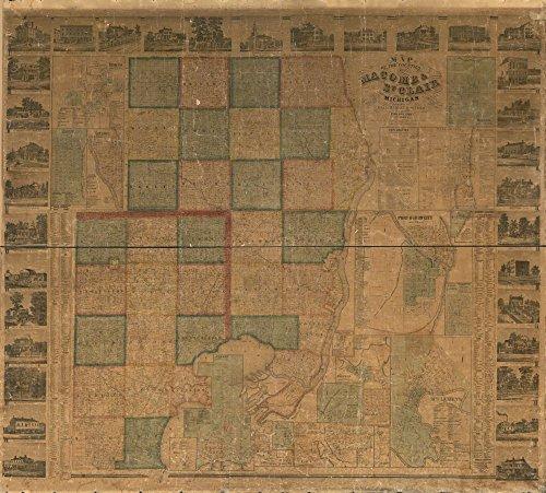 Vintage 1866 Map of Tippecanoe Co., Indiana Indiana, Tippecanoe County, United States