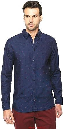 Tommy Hilfiger - Camisa casual - para hombre azul turquesa M: Amazon.es: Ropa y accesorios